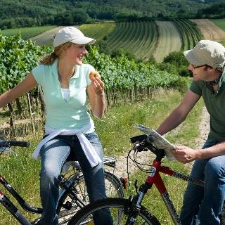 Kurze Radler-Rast in den Weingärten