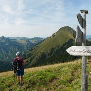 Wegweiser zur Krauters-Alpe
