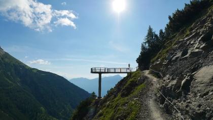 Aussichtsplattform am Drischlsteig auf dem Weg zu den Platteinspitzen