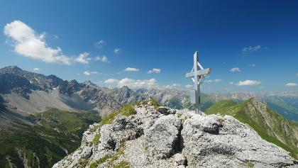 Am Gipfel des Falschkogels
