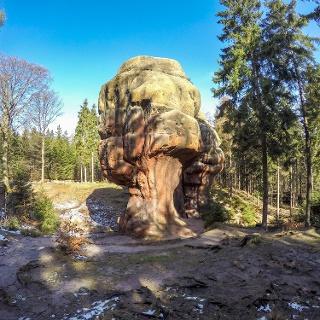 Der Kelchstein bei Oybin