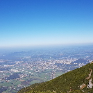 Untersberg hoch über Salzburg