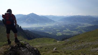 Aussicht vom Wilden Kaiser aufs Kitzbühler Horn