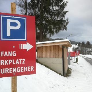 Parkplatz für Tourengeher