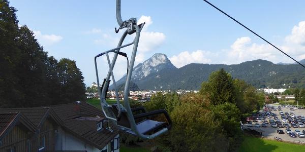 Kaiserlift - im Hintergrund Kufstein und Pendling