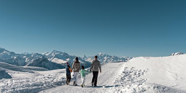 Winterwanderung Moosfluh - Bergrstaurant Chüestall - Riederalp