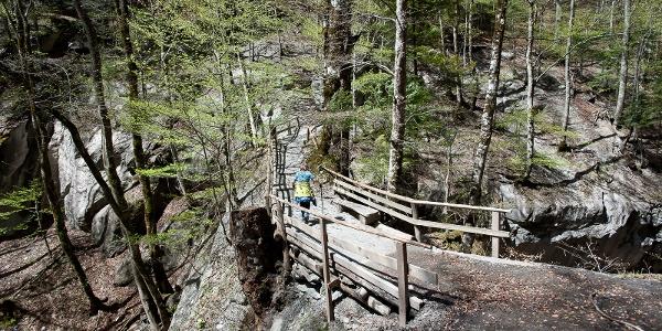 Naturbrücke auf den Weg zur Taminaschlucht