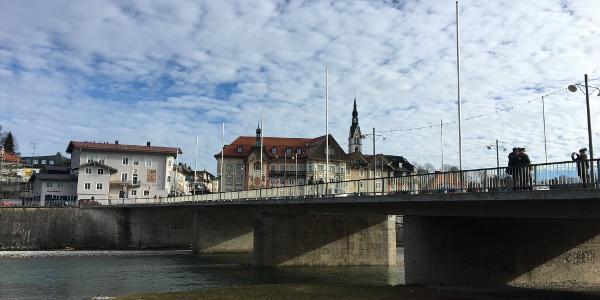 Isarbrücke in der Tölzer Altstadt