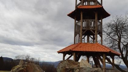 Glockenturm am Summit des Bezirkes Jennersdorf, dem Stadelberg 418m