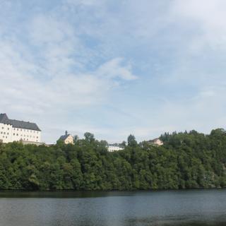 Blick auf Schloß Burgk