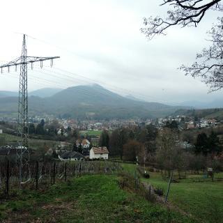 Blick zurück auf Alberweiler