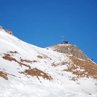 Westliche Auf-/ Abstiegsrippe unter dem Gipfel
