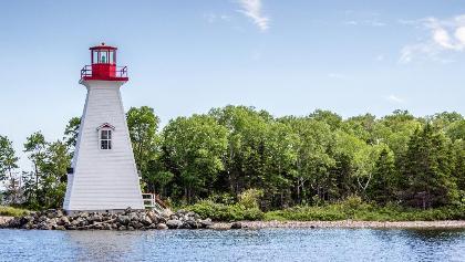 The iconic Baddeck lighthouse