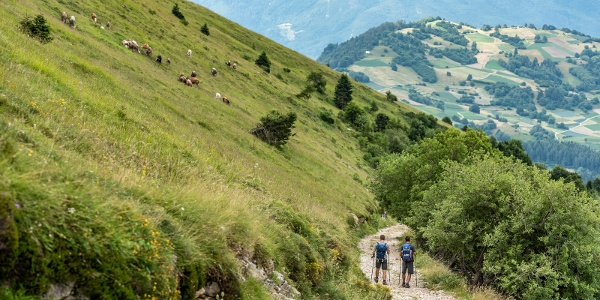 Hiking down the slopes of Monte Stivo