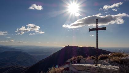 Ausblick auf den Monte Cuarnan (zweites Ziel von heute)