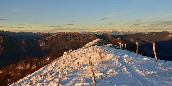 View of Mt. Stol and the Karavanke Mountain range