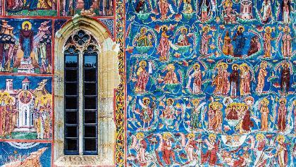 Manastirea Moldovita, detaliu pictura exterioara