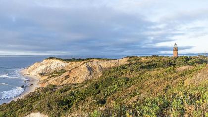Gay Head Lighthouse and Gay Head Cliffs of Aquinnah