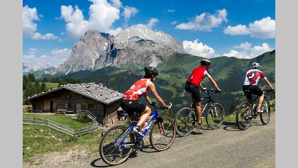 Mountainbiken in der Ferienregion Seiser Alm