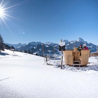 Fondue-Caquelon Schlittmoos Winter
