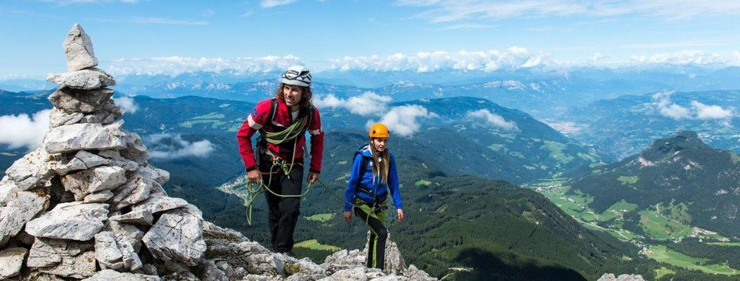 Bergsteiger auf der Seiser Alm