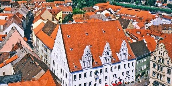 Blick auf das Rathaus von der Frauenkirche