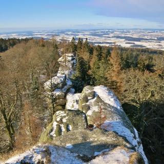 Blick über das Waldsteim-Massiv nach Nordwesten