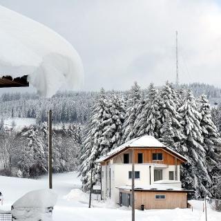 Wipflerbergstraße 33, ~730m, 40cm Schnee, Pulver