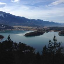 Blick vom Tabor auf den Faaker See