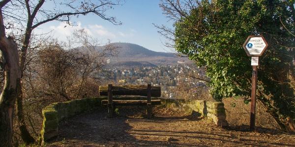 Kilátópont paddal az Apáthy-szikla mellett, rálátással a János-hegyre