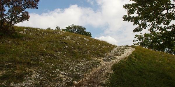 Meredek, sziklás ösvény a Kerek-hegy oldalában