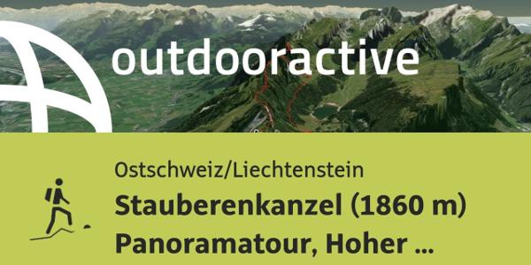 Bergtour in der Ostschweiz/Liechtenstein: Stauberenkanzel (1860 m) ...