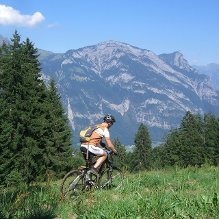 Biker auf der Chapfensee-Tour