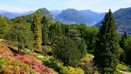 Botanischer Garten San Grato, dahinter der Monte Bré.