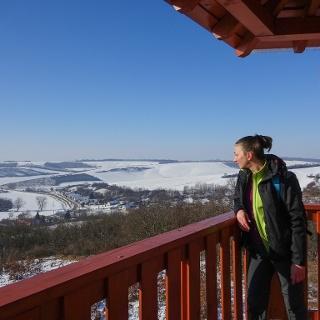 Bartina teljesítménytúra - a Bati-kereszt-kilátóban