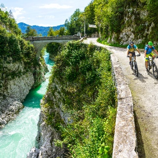 Cycling, Napoleon's Bridge across the Soča River