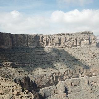 Luftaufnahme des Wadi Nakhar Canyons