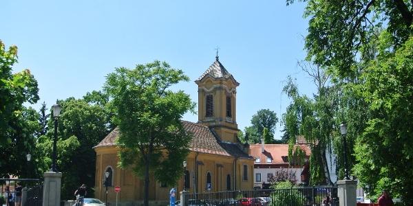 Pozsarevacska-templom Szentendrén, a Bükkös-patak mentén