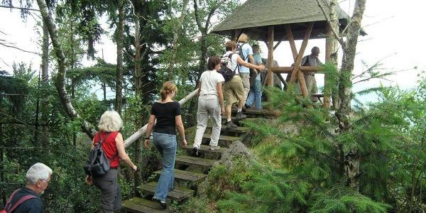 Aufstieg zum Aussichtpunkt Elsbethhütte