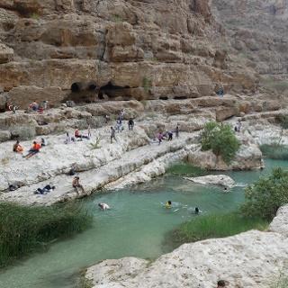 Die berühmten Pools des Wadi al Shab