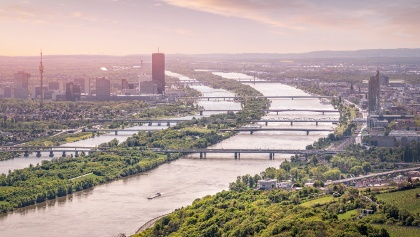 Views over Vienna and the Danube