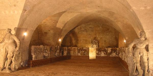 Lapidarium im Schlosskeller