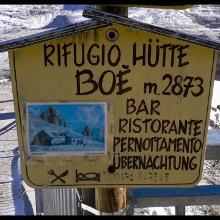 Südtirol, Pitz Boe Hütte 2873m .