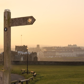 Cleveland Way signpost near Whitby