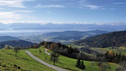 Blick vom Magdalensberg nach Südwesten in das Klagenfurter Becken