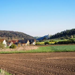 Nach Traidendorf, Blick nach Kallmünz zurück