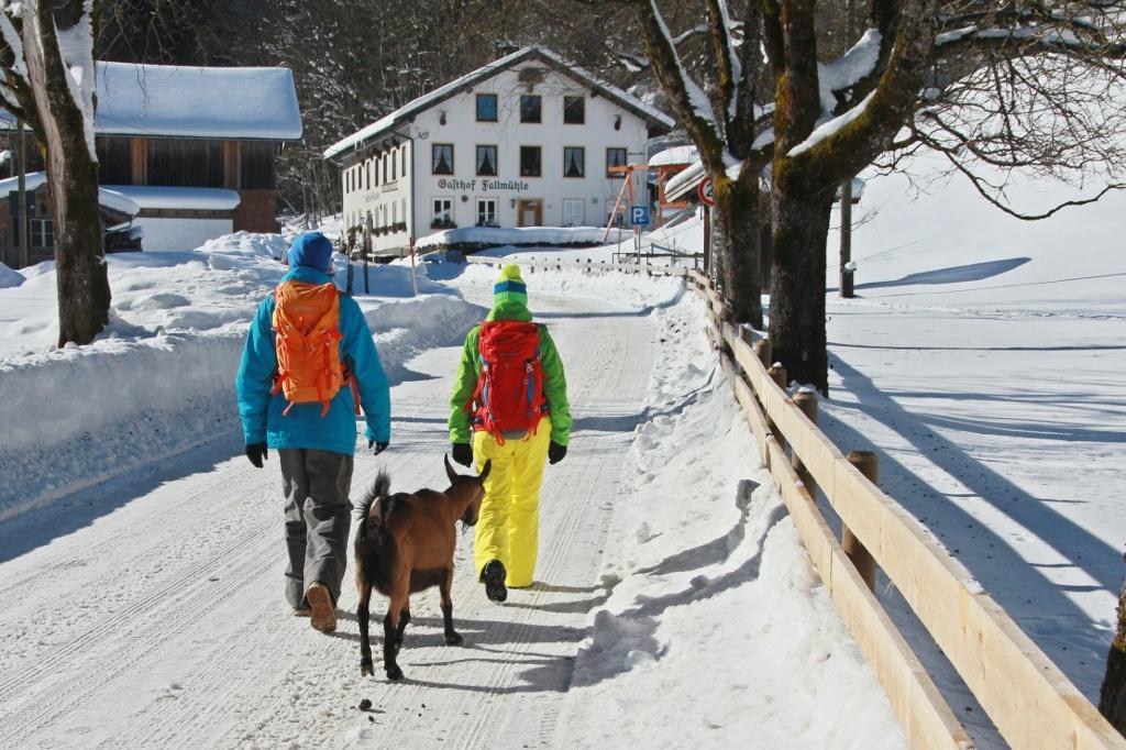 Gasthof Fallmühle im Winter - @ Autor: Julian Knacker - © Quelle: Pfronten Tourismus