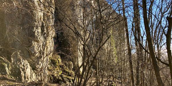 Klettersteig unterhalb des Rodensteins