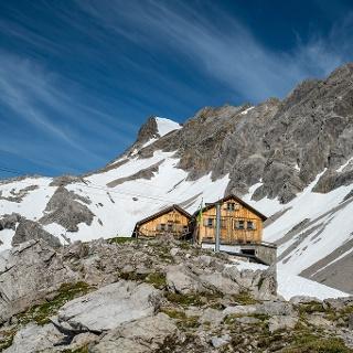 Totalp Hütte am Fuße der Schesaplana