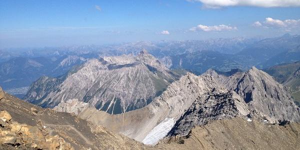 Blick auf den Auf- und Abstiegsweg